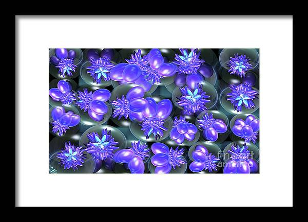 Abstract Framed Print featuring the digital art Eggplant by Ron Bissett