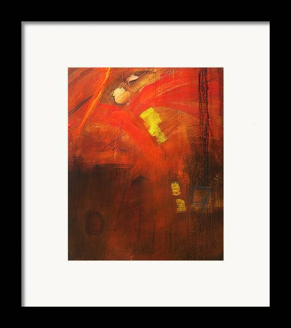 Abstract Framed Print featuring the painting Ego Trip by Carrie Allbritton