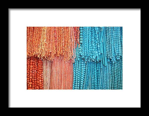 Egypt Framed Print featuring the photograph Egypt Coral And Turquoise From Mount Sinai Egypt by Yvonne Ayoub