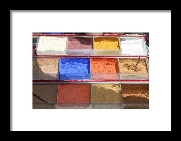 Egypt Framed Print featuring the photograph Egypt Natural Earth Pigments Egypt by Yvonne Ayoub