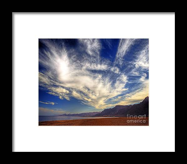 Taba Heights Framed Print featuring the photograph Egypt Sahara Desert Red Sea Night Sky Image by Chris Smith