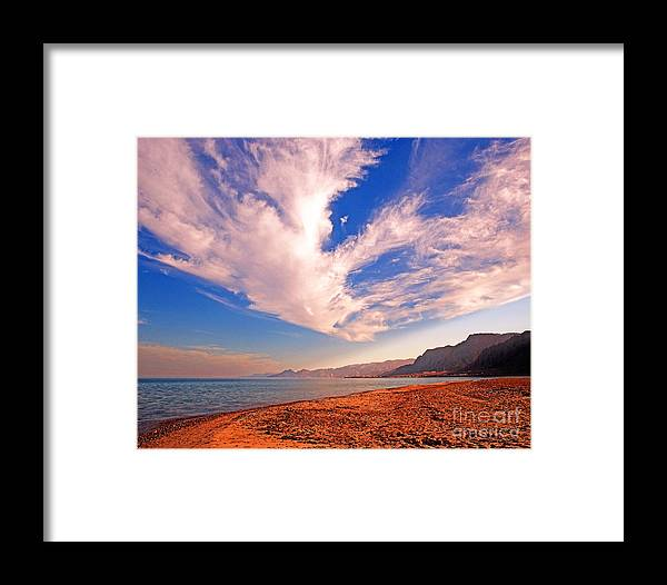 Taba Heights Framed Print featuring the photograph Egyptian Desert Coast And The Red Sea by Chris Smith