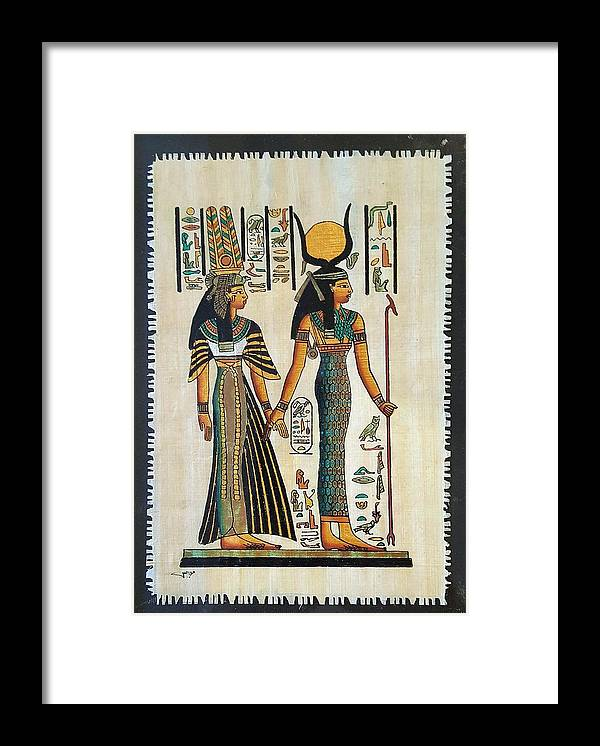 Temple Of Horus Framed Print featuring the photograph Egyptian Papyrus by Rob Hans