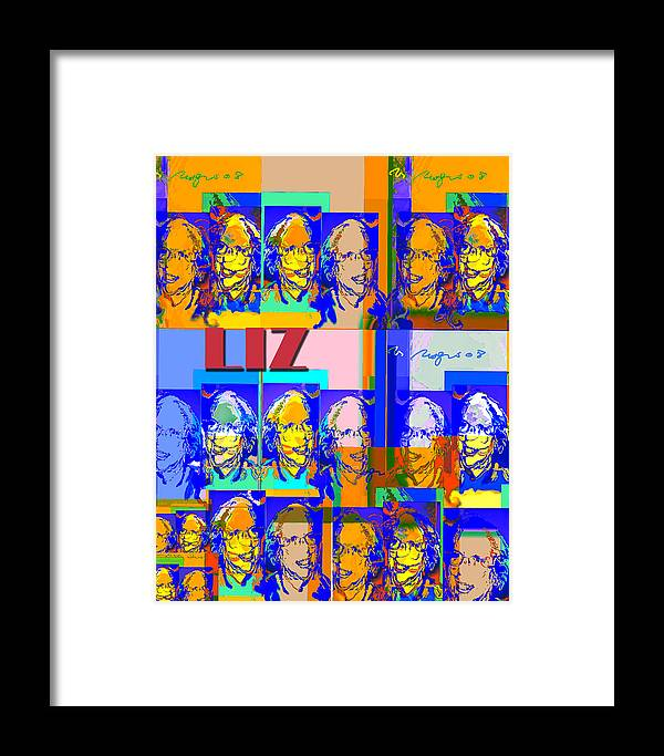 Portrait Framed Print featuring the painting E.h.t by Noredin Morgan