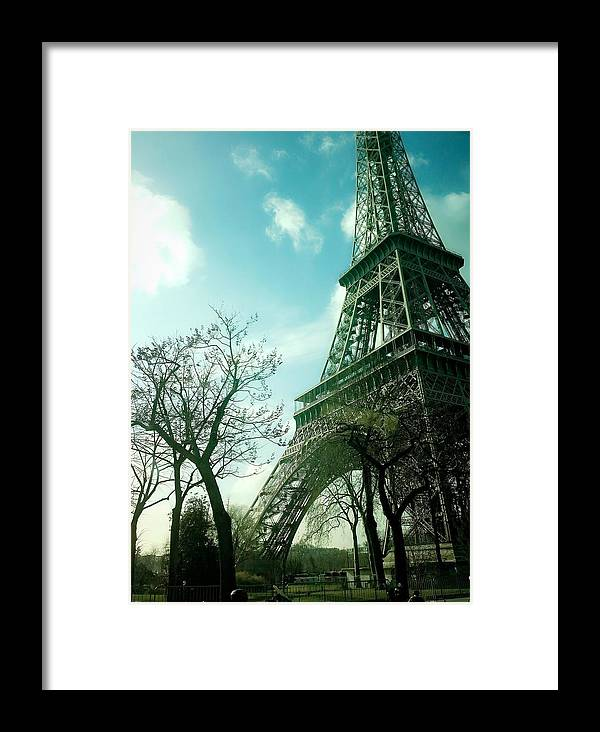 Eifell Tower Framed Print featuring the photograph Eifell Tower View From Taxi II. by Agnes V