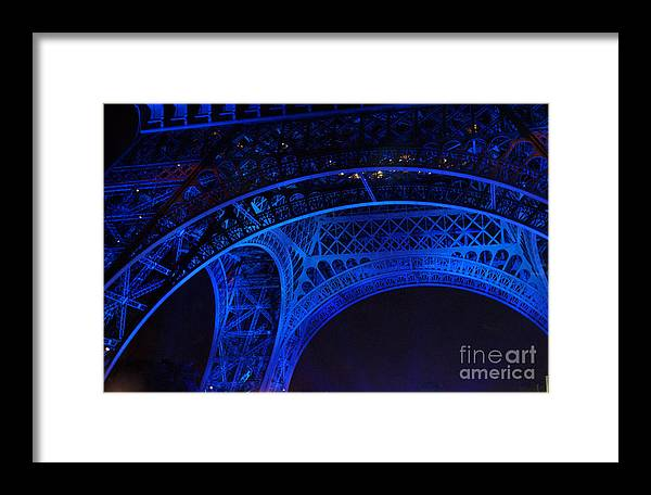 Eiffel Tower Framed Print featuring the photograph Eiffel Blue by Christine Jepsen