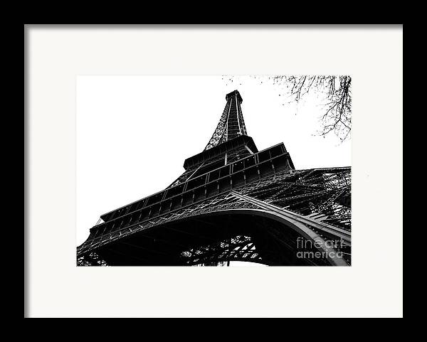 Eiffel Tower Framed Print featuring the photograph Eiffel From An Angle by Joshua Francia