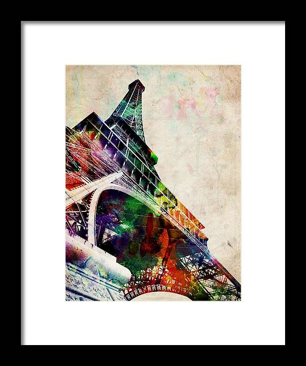 Eiffel Tower Framed Print featuring the digital art Eiffel Tower by Michael Tompsett