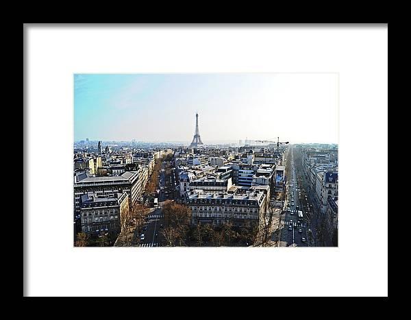 Eiffel Framed Print featuring the photograph Eiffel Tower Paris France by HazelPhoto