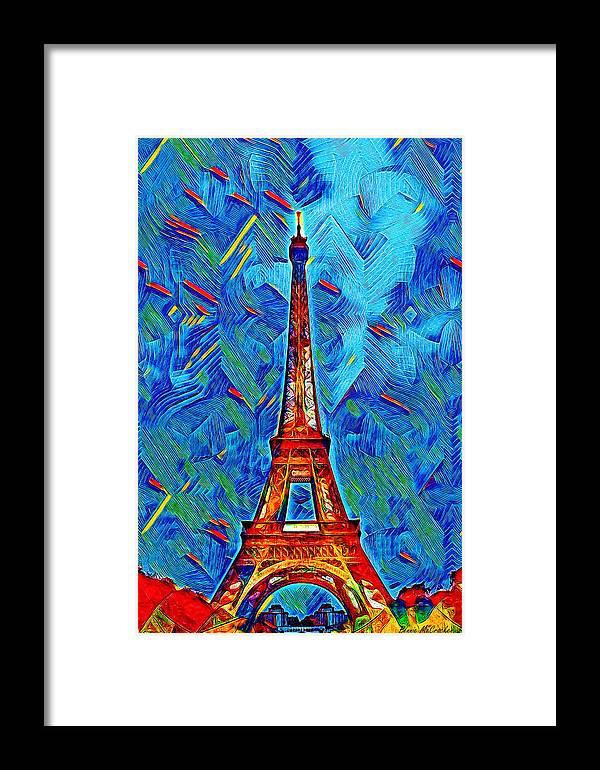 Icon Framed Print featuring the digital art Eiffel Tower by Pennie McCracken