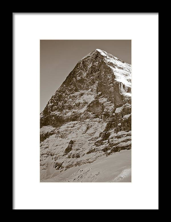 Frank Tschakert Framed Print featuring the photograph Eiger North Face by Frank Tschakert