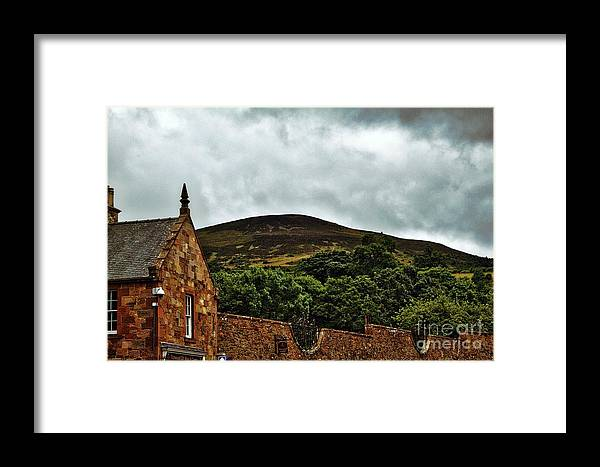 Melrose Abbey Framed Print featuring the photograph Eildon Hill by John Kenealy