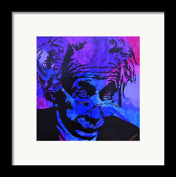 Einstein Paintings Framed Print featuring the painting Einstein-all Things Relative by Bill Manson