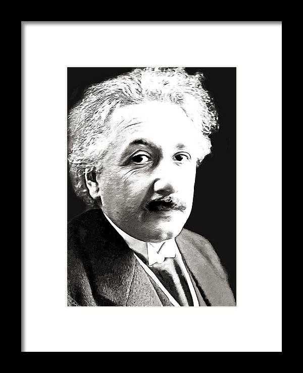 Einstein Framed Print featuring the photograph Einstein by Munir Alawi