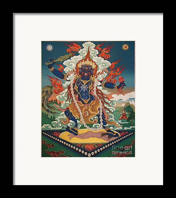 Ekajati Framed Print featuring the painting Ekajati by Sergey Noskov