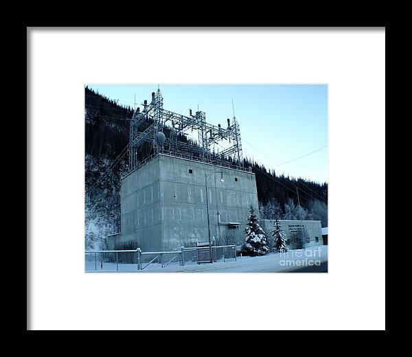 Landscape Framed Print featuring the photograph Eklutna Electric Blue by Ron Bissett
