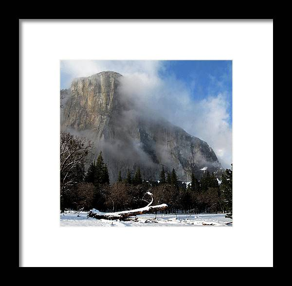 Yosemite Framed Print featuring the photograph El Capitan Yosemite Clearing Storm by Larry Darnell