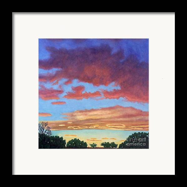 Sunset Framed Print featuring the painting El Dorado Sunset by Brian Commerford