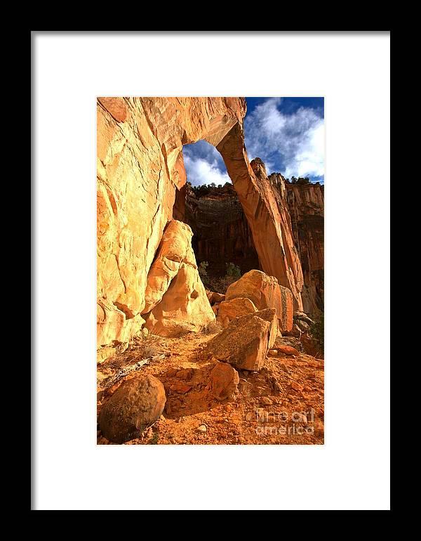 El Malpais Framed Print featuring the photograph El Malpais La Ventana Arch by Adam Jewell