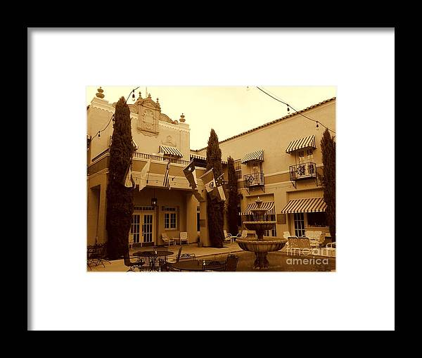 Michael Hoard Photography Framed Print featuring the photograph El Paisano Hotel In Marfa Texas by Michael Hoard