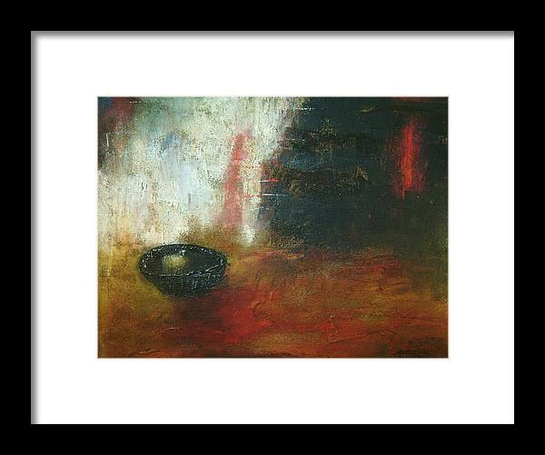 Contemporary Painting Framed Print featuring the painting El Pan De Cada Dia by Marco Solis