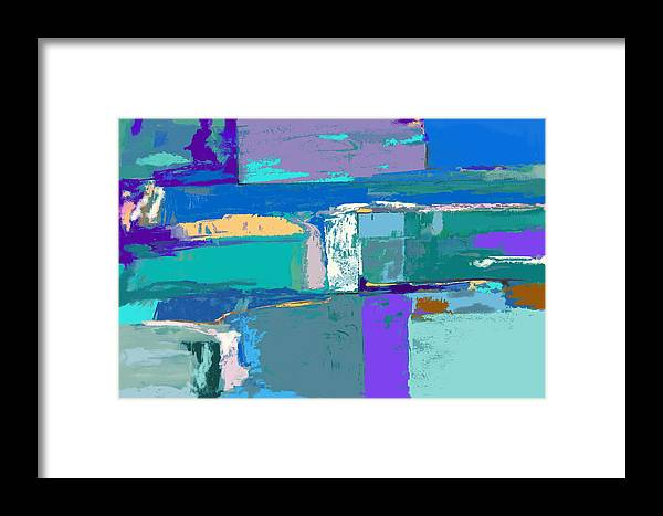 Abstract Framed Print featuring the painting El Paso Sunset by Randy Patton