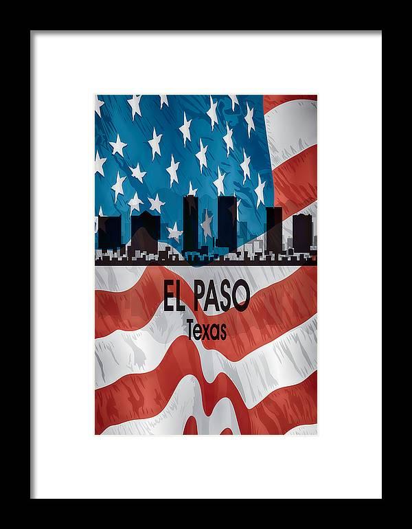 el paso tx american flag vertical framed print by angelina vick