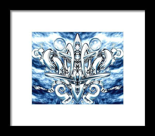 Abstract Framed Print featuring the painting Elation by Dreamlight Creations