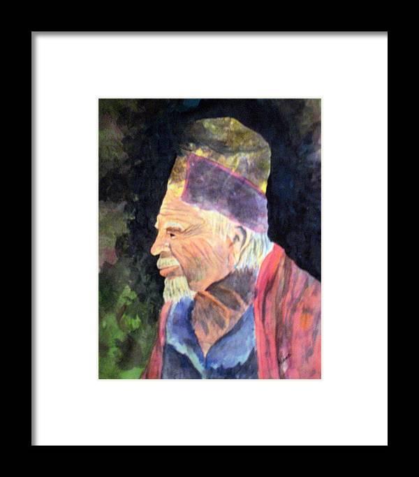 Elder Framed Print featuring the painting Elder by Susan Kubes