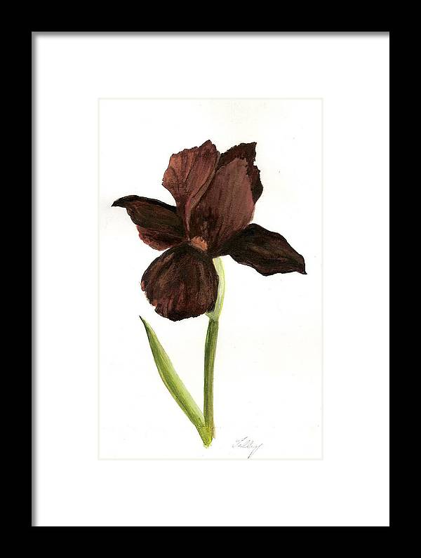 Framed Print featuring the painting elderly Iris by Susan Tilley