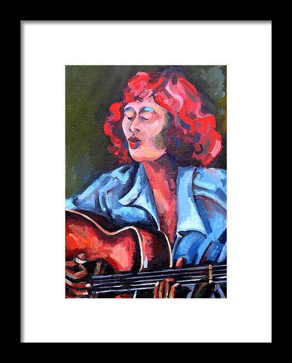 Blues Musician Framed Print featuring the painting Eleanor Ellis - Diving Duck Blues by Jackie Merritt