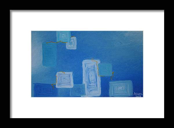 Abstract Framed Print featuring the pastel Electric Avenue by Amanda Clark