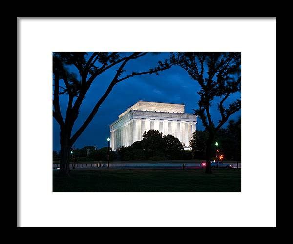Washington Dc Framed Print featuring the photograph Electric Blue by Ken Howard
