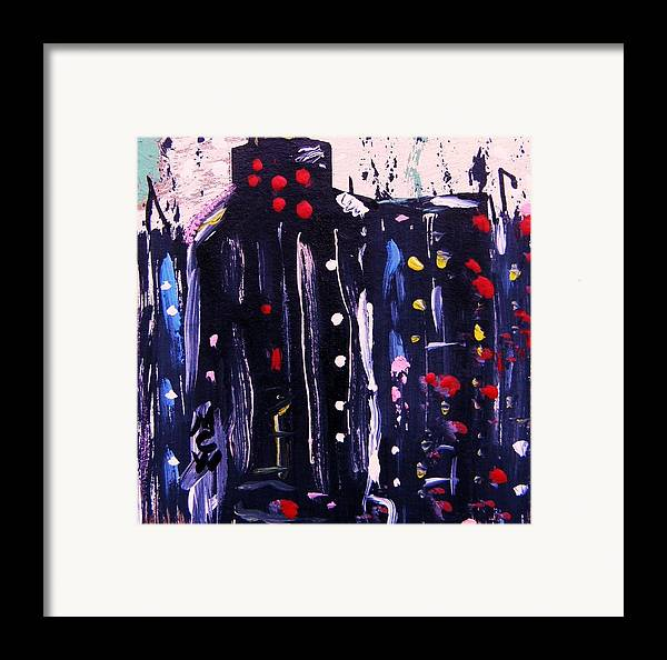 Lights Framed Print featuring the painting Electric Company by Mary Carol Williams
