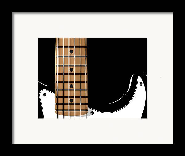 electric Guitar Framed Print featuring the digital art Electric Guitar by Michael Tompsett