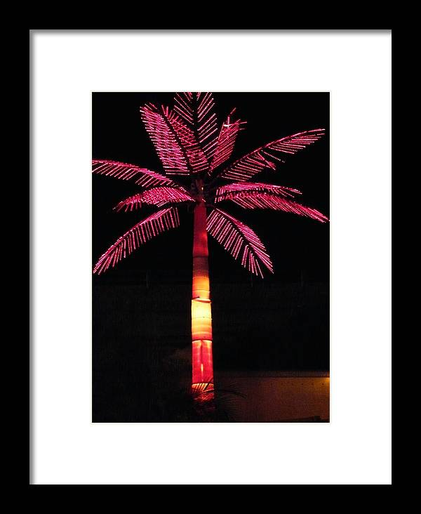 Abstract Framed Print featuring the photograph Electric Palm by Florene Welebny