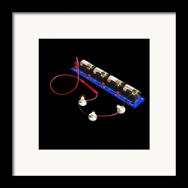Experiment Framed Print featuring the photograph Electrical Circuit by