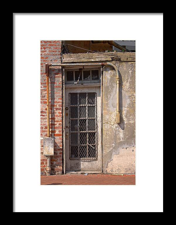 Door Framed Print featuring the photograph Electrical Door by Grant Groberg