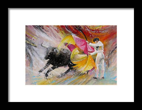 Animals Framed Print featuring the painting Elegance by Miki De Goodaboom