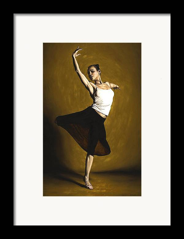 Elegant Framed Print featuring the painting Elegant Dancer by Richard Young