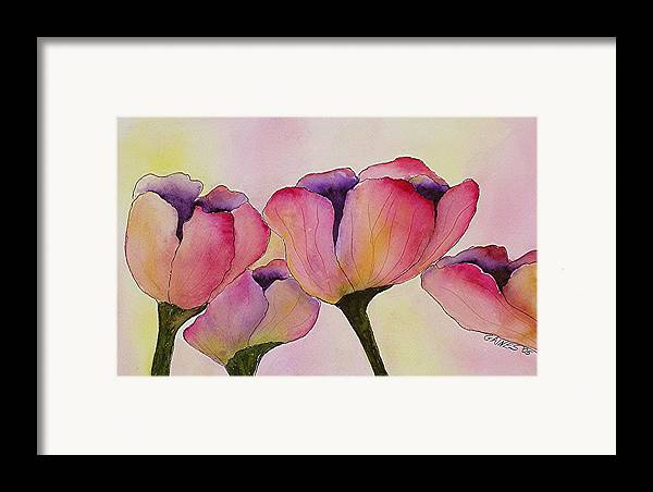 Tulips Framed Print featuring the print Elegant Tulips by Mary Gaines