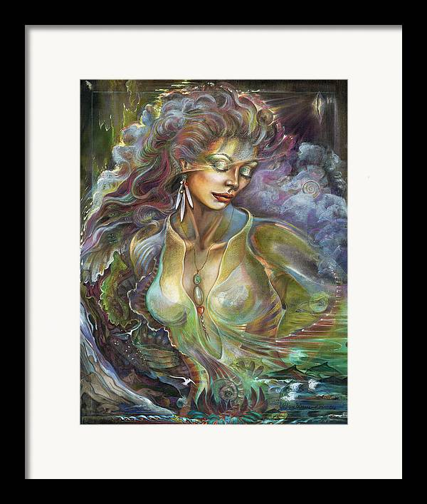 Elements Framed Print featuring the painting Element Air by Blaze Warrender