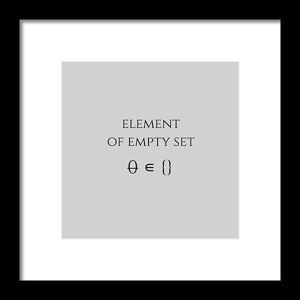 Empty Set Framed Print featuring the digital art Element Of Empty Set by Piece of Infinity