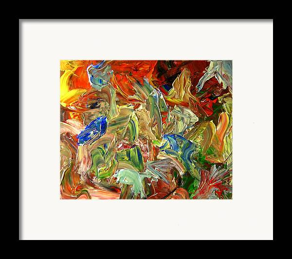 Weather Framed Print featuring the painting Elemental Merge by Karen L Christophersen