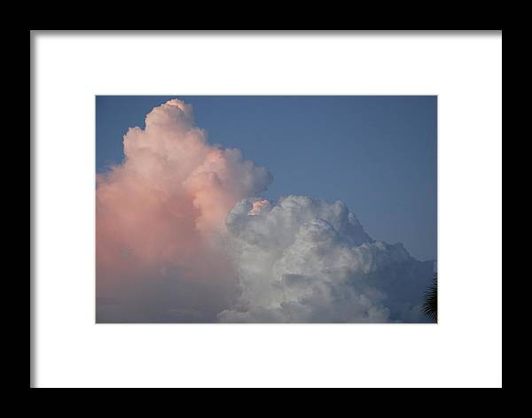 Clouds Framed Print featuring the photograph Elephant Cloud by Rob Hans