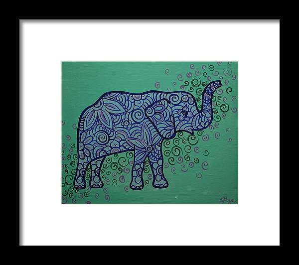 Elephant Framed Print featuring the painting Elephant Dreams by Emily Page