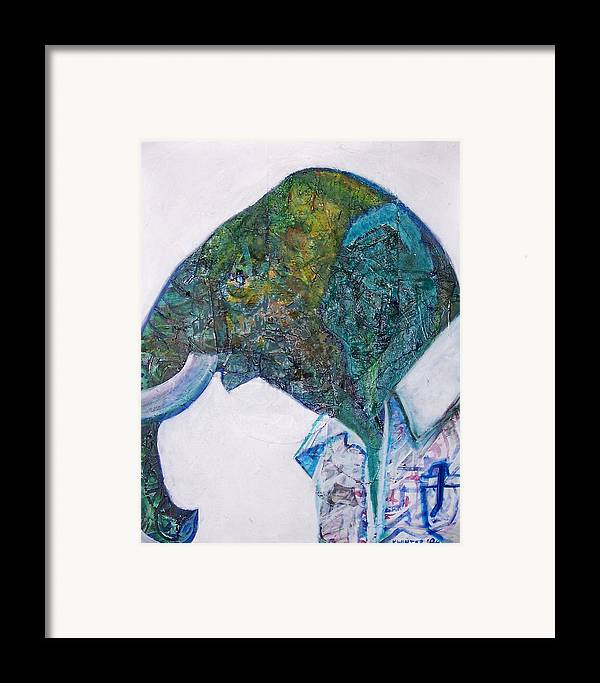 Elephant Framed Print featuring the mixed media Elephant Man by Dave Kwinter