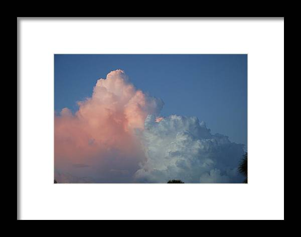 Clouds Framed Print featuring the photograph Elephants Clouds by Rob Hans