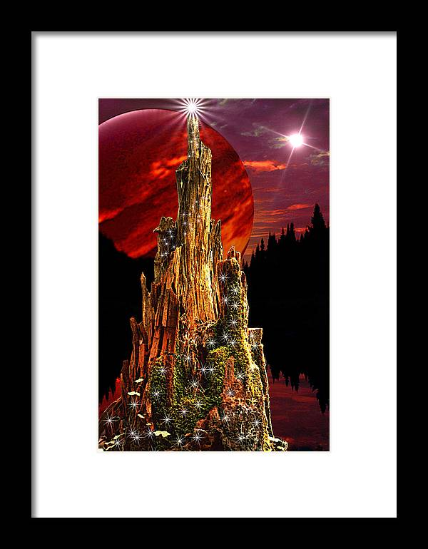 Fantasy Framed Print featuring the digital art Elfen Conclave by Roger Soule