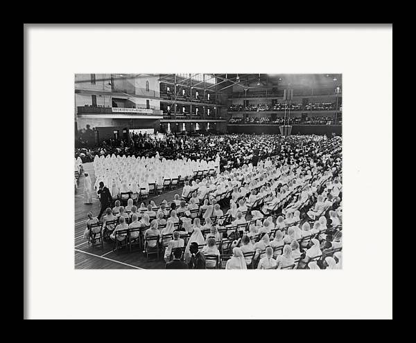 History Framed Print featuring the photograph Elijah Muhammad Addressing An Assembly by Everett